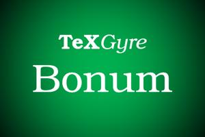 TeX Gyre Bonum