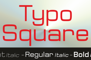 Typo Square Bold Demo