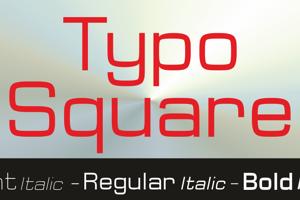 Typo Square Bold Demo