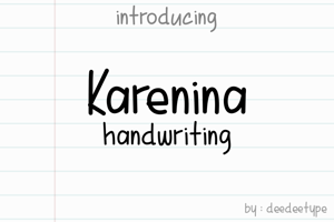Karenina Handwriting