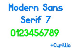 Modern Sans Serif 7