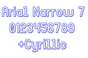 Arial Narrow 7