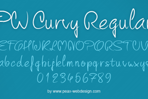 PW Curvy regular script