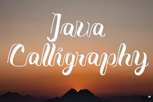 Java Calligraphy