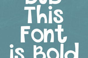 THIS FONT IS BOLD