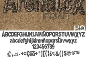 Arenatox font