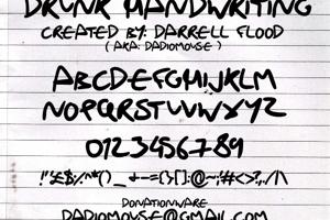 Drunk Handwriting