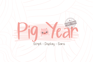 Pig Year Display