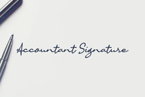 a Accountant Signature