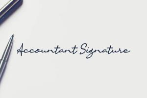 a Accountant Signature