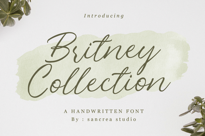 Britney Collection Font poster