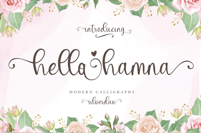 Hello Hamna Font poster