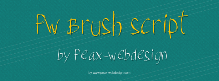 PWBrushScript Font poster