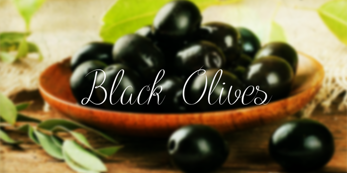Black Olives Font poster