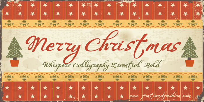 Whispers Calligraphy Essential Font poster