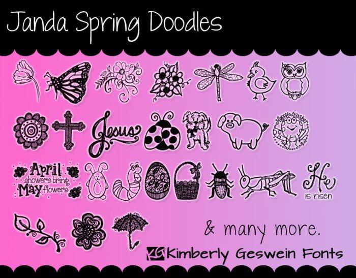 Janda Spring Doodles Font