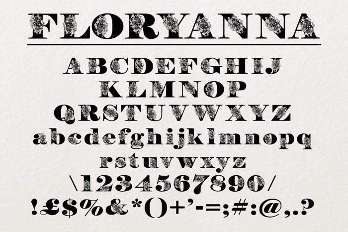 FloryAnna Font poster