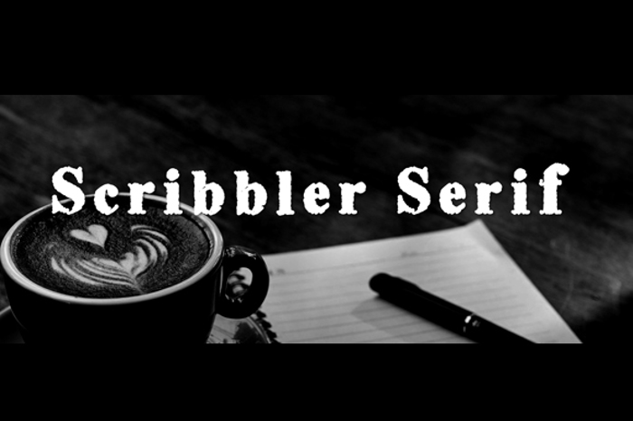 Scribble Serif Font poster