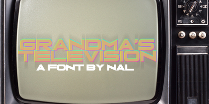 Grandma's Television Font poster