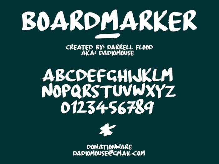 BoardMarker Font poster