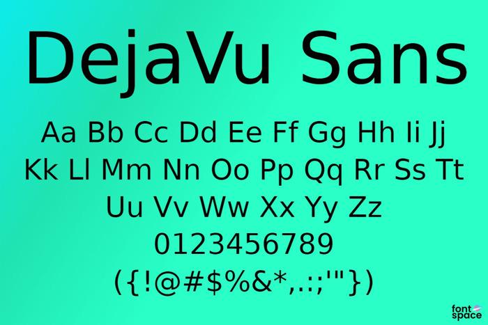 DejaVu Sans Font poster