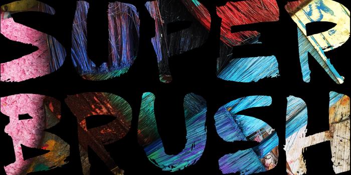 DK Superbrush Font poster