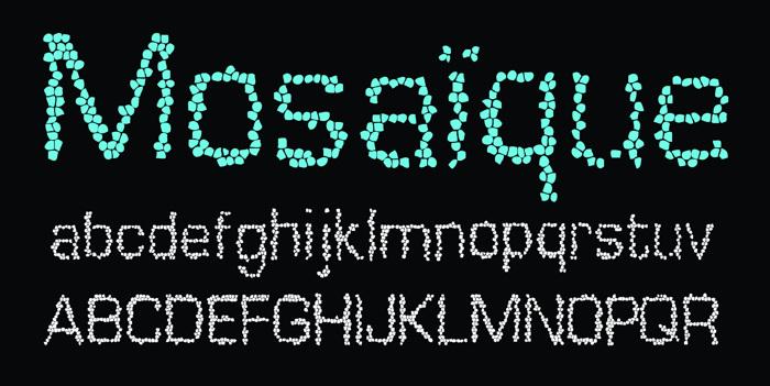 Mosaique Font poster