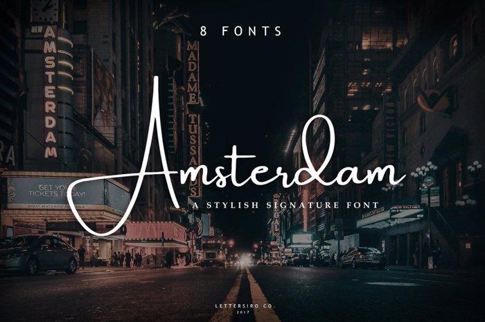 Amsterdam Font poster