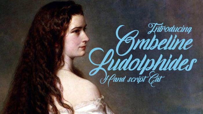 Ombeline Ludolphides Font poster