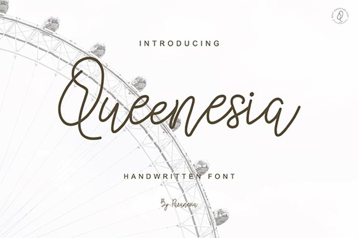 Queenesia Font poster