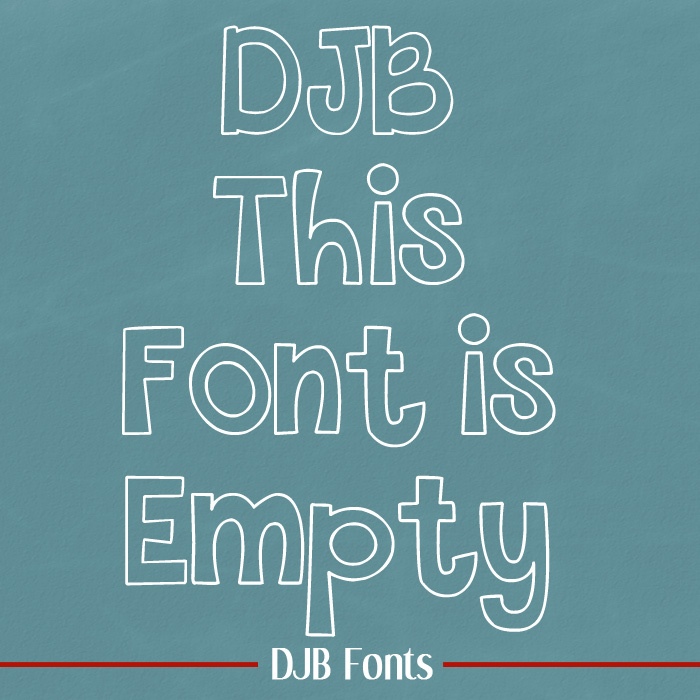 THIS FONT IS EMPTY poster