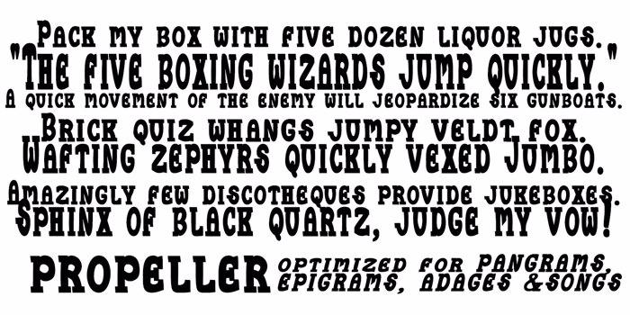 Propeller Font poster