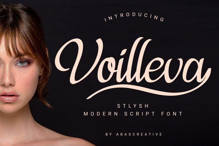 Violleva Font poster