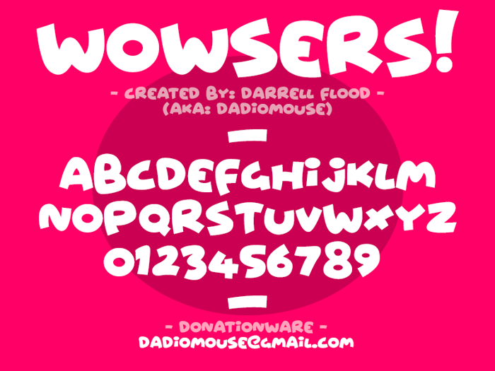 Wowsers Font poster