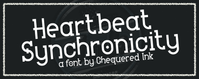 Heartbeat Synchronicity Font poster