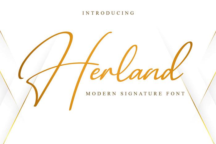 Herland Font poster