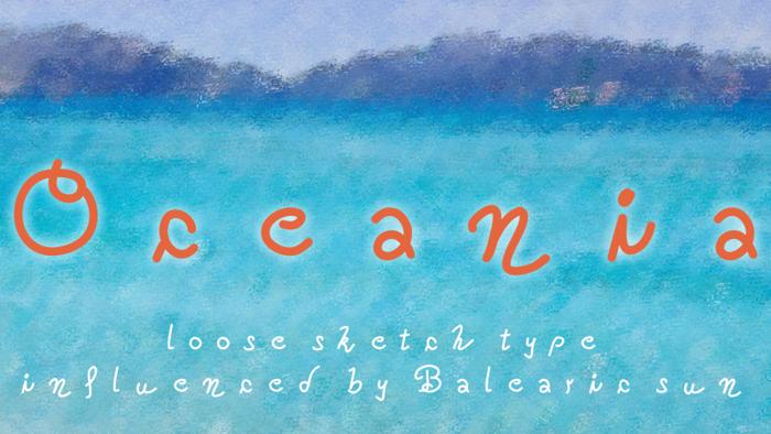 Oceania Font poster