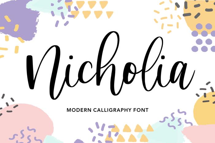 Nicholia Font poster