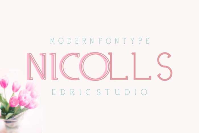 NICOLLS Font poster