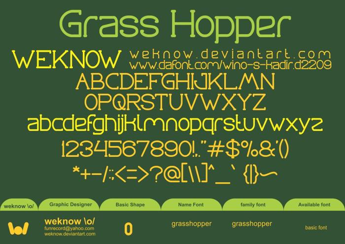 Grass Hopper Font poster