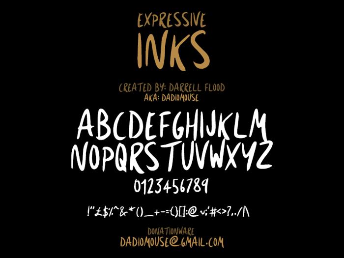 Expressive Inks Font