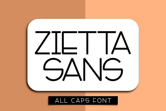 Zietta Sans Font poster