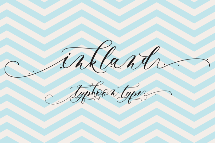 Inkland Font poster
