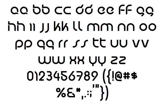 Predatron Font poster