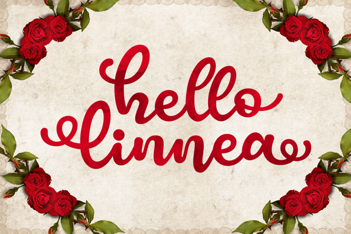 Hello Linnea Font poster