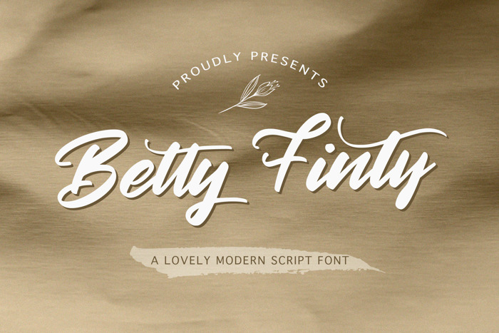 Betty Finty Font poster