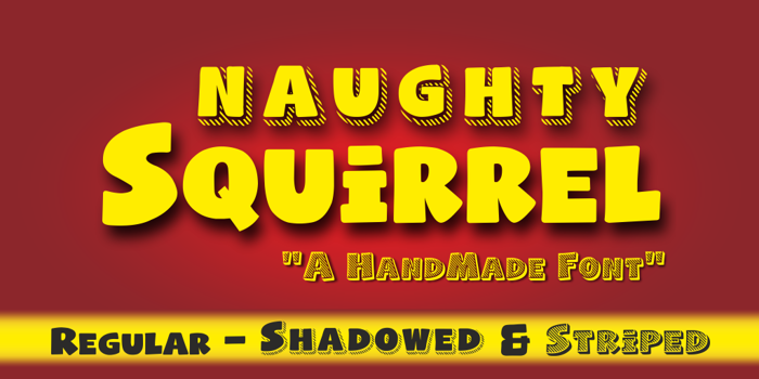 Naughty Squirrel Font poster