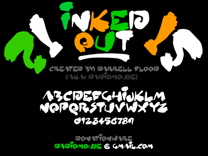 Inked Out Font poster