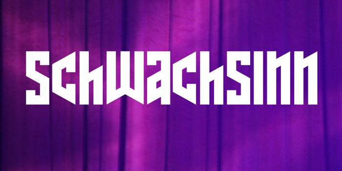Schwachsinn Font poster