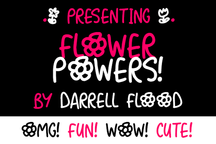Flower Powers Font poster